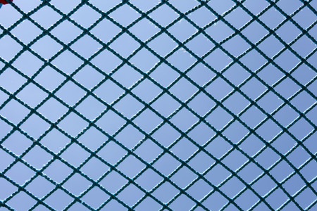 safety blue net against the blue sky