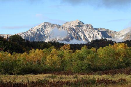 Fall mountain scenic, nagano japan photo