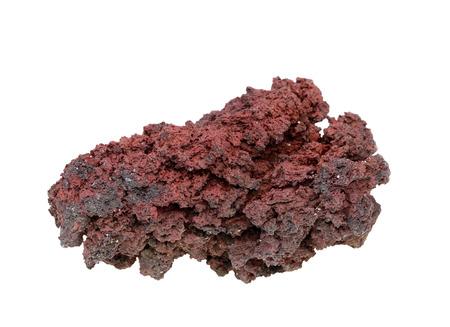 igneous: Volcanic stone isolated on white background Stock Photo