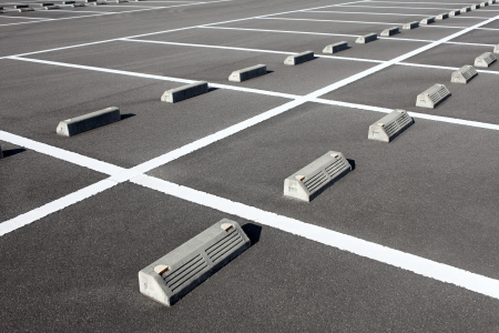 Car parking lot with white mark Stock Photo