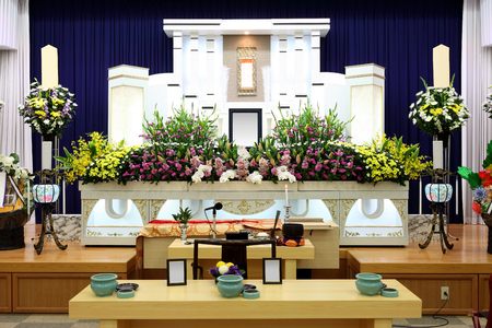 Funeral home interior of japanese style