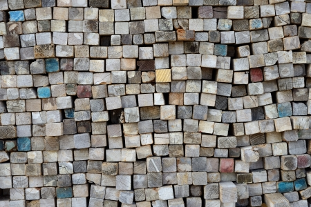 stack of old lumber surface, texture background Stock Photo - 24643153