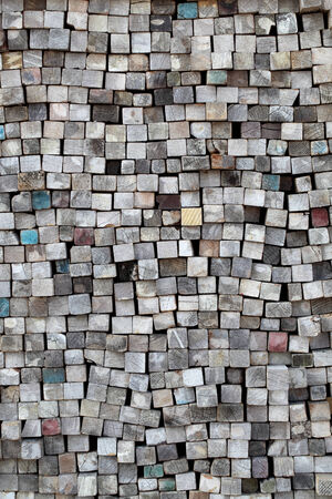 stack of old lumber surface, texture background photo