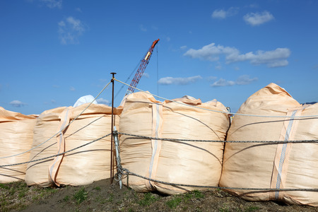 big sandbags for protection photo