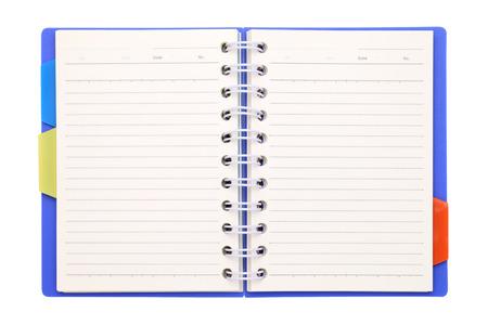 ブックマークに空白のノートブック 写真素材