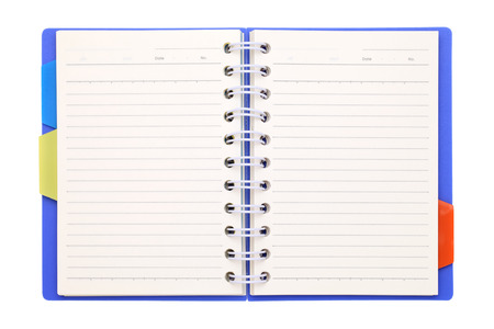 Blank notebook with bookmark photo