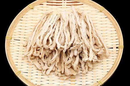 dikon: ingrediente japonés de alimentos, secado rebanada rábano blanco Foto de archivo