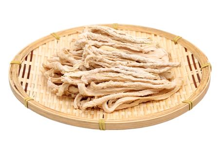 dikon: ingrediente japon�s de alimentos, secado rebanada r�bano blanco Foto de archivo
