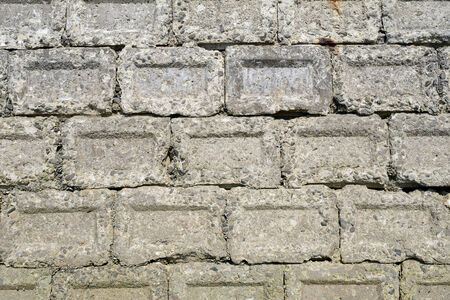 cornerstone: Stack of old concrete blocks, texture background