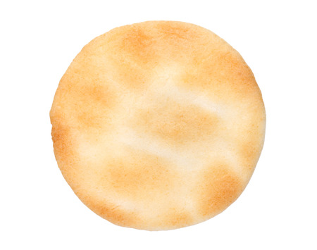 Japanese rice cracker on white background, Salty taste 写真素材