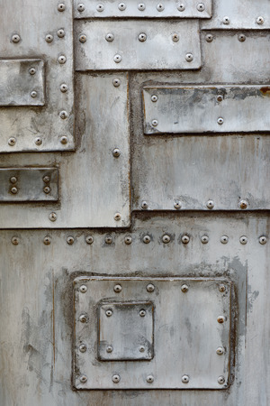 Estructura de metal de la vieja con el tornillo Foto de archivo - 27257347