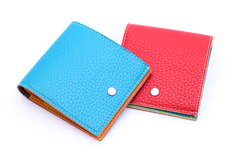 leather wallet on a white background photo