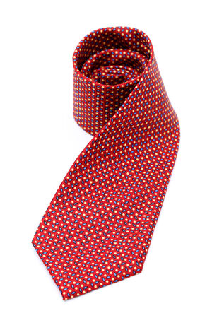 red neck tie isolated on white background  photo