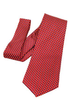 red necktie isolated on white  photo