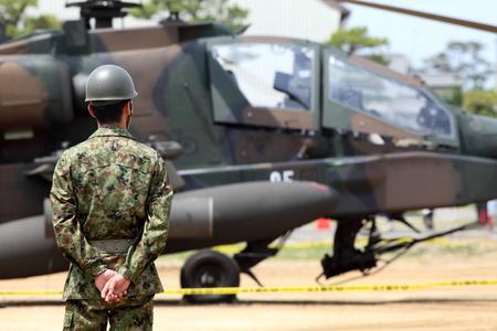 military man: Japanese military base