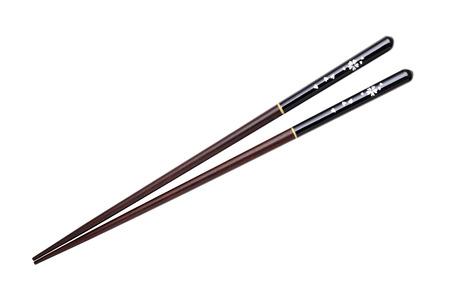 Palillos japoneses, patrón de la flor los cerezos en flor