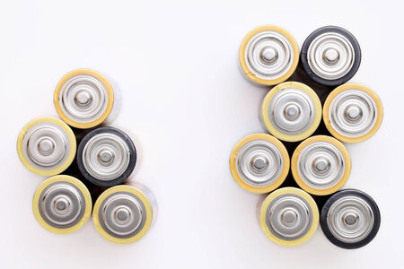 AA battery on a white background photo