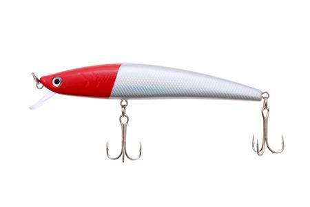 plastic fishing lure isolated on white background photo
