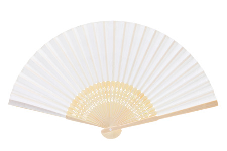 Chinese fan isolated on white background photo