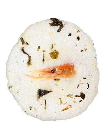 Japanese shrimp cracker with seasoned