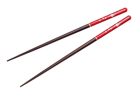 Japanese chopsticks, cherry blossom flower pattern photo