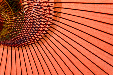 Close up of Japan traditional red umbrella photo