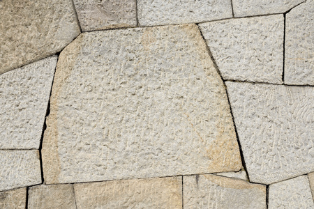 rock stone: Background of old stone wall texture, close up Stock Photo