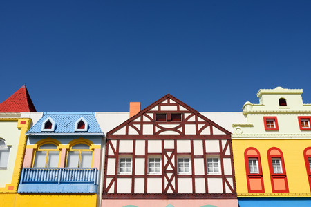 unique characteristics: colorful european styled houses architecture a fantasy land