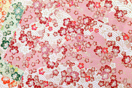 Traditional japanese pattern origami paper, texture background