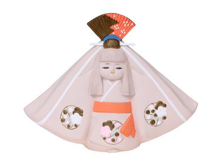 Traditional Japanese Hakata doll isolated on white background Stock Photo - 34217977