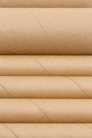 cylinders: Close up of cardboard cylinders