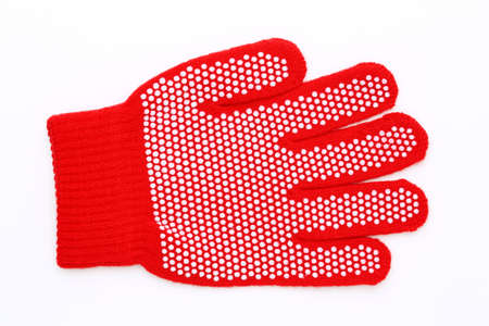 work glove: Work glove with white pimple, Isolated on a white background