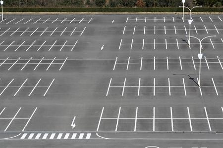 Vacant parking lot, parking lane outdoor in public park 写真素材