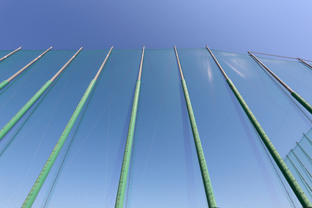 safety net: safety net against the blue sky Stock Photo