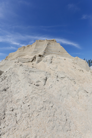 quicklime: gravel mound mountain for concrete making