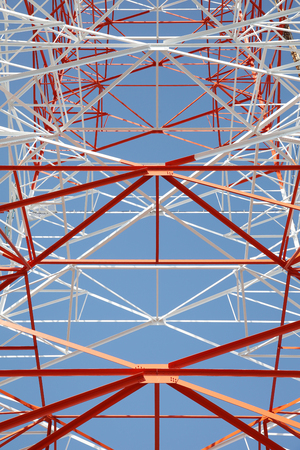 superconductor: View of electricity pylon background Stock Photo