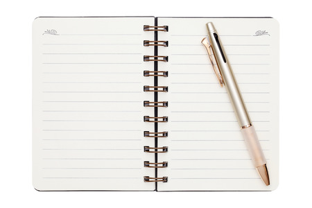 ball point: blank spiral notebook with ball point pen Stock Photo