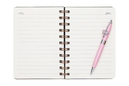 ballpoint: blank spiral notebook with ballpoint Stock Photo