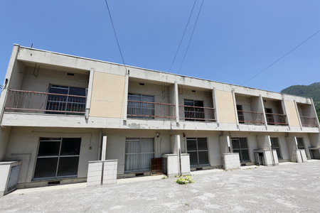 vacant: Vacant old Japanese apartment building