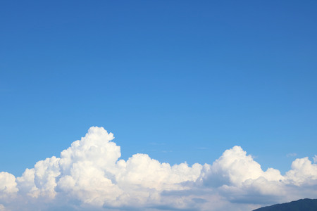 pace: White clouds and blue sky background