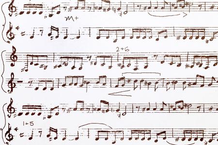 music pattern: Close up of sheet music pattern paper