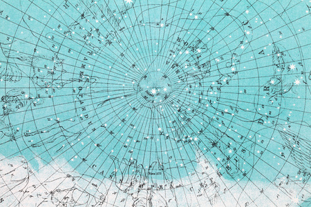 planisphere: Close up of planisphere pattern paper