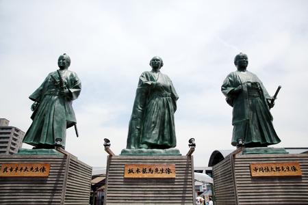 Japanaese statues of leaders of bakumatsu period