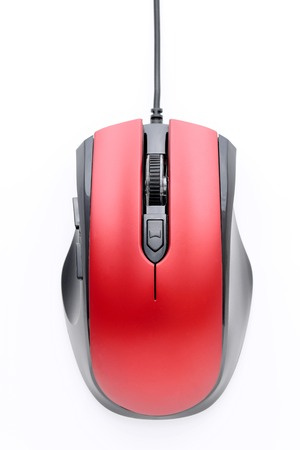 top view of computer mouse isolated on white background Imagens