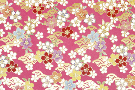 Traditional Japanese pattern origami paper, texture background 写真素材