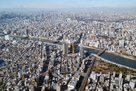Landscape from Tokyo SkyTree Tower, in Japan