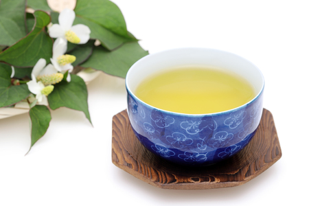 Japanese healthy dokudami tea Standard-Bild