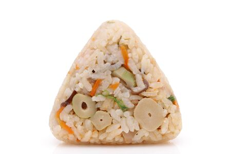 Onigiri, Japanese food, Japanese rice ball, rice triangle with Takikomi gohan