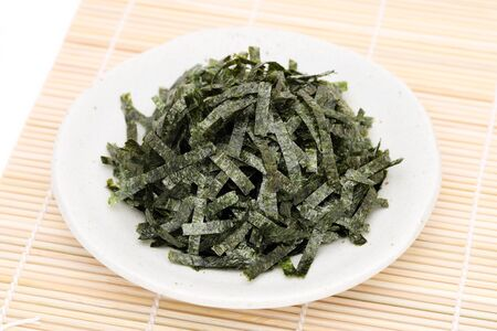 Japanese food, Nori dried seaweed Stock Photo