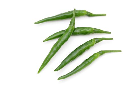 Japanese green chili pepper Banque d'images